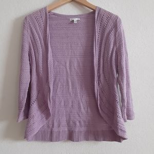 S Croft & Barrow Purple Knit Cardigan